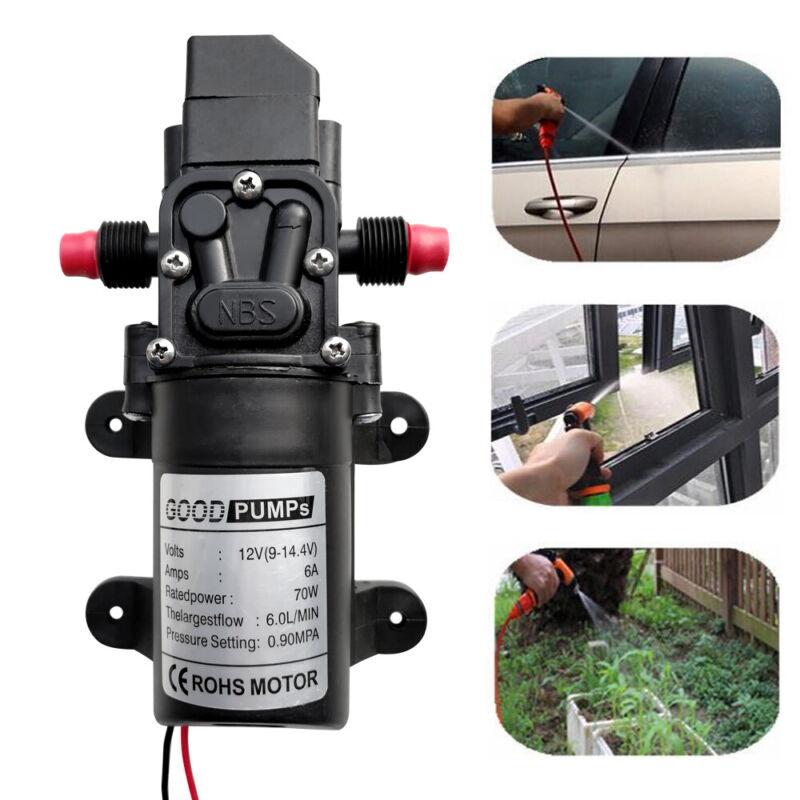 130PSI High Pressure Electric Diaphragm Water Pump Self Priming 6L/Min DC12V 70W