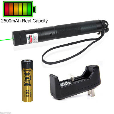 10miles 532nm 303 Green Laser Pointer Lazer Pen Visible Beam Light18650charger