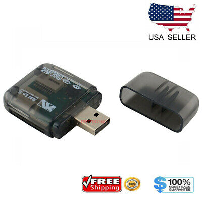 USB 2.0 Flash Memory Card Reader All-in-One SD/SDHC Micro-SD/TF MS-Duo M2 Black Sdhc Card Usb