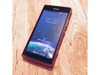SONY EXPERIA SP C5303 ANDROID PHONE (RED) 8GB EE NETWORK reduced to sell