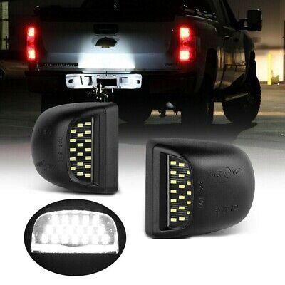 OE-Fit Full LED License Plate Light Kit For Silverado GMC Sierra 1500 2500 3500
