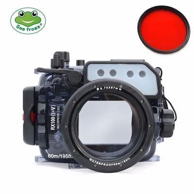 Seafrogs Underwater Waterproof Camera Case for Sony RX100 I II  III  IV RX100 V