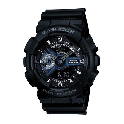 Casio Mens G-Shock Black Combi World Time Watch RRP £125 Brand New and Boxed