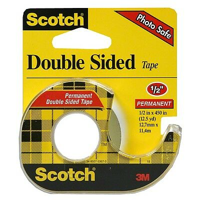 Scotch Double Sided Tape With Dispenser 12 X 450 1 Ea