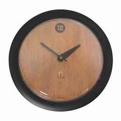Chicago Lighthouse 14 Oak Veneer Wall Clock Black Quiet