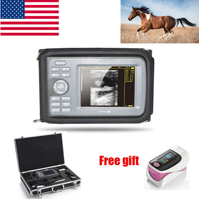 Veterinary Handheld Digital Ultrasound Scannerrectal Probebattery Lcd Usa