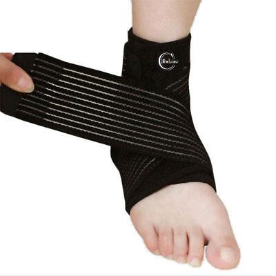 Adjustable Ankle Support Neoprene Brace Best Foot Strap Pain Relief Sport Wrap