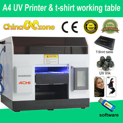 A4 Uv Printer Epson R330 Printer Head Flatbed Cylindrical T-shirt Working Table