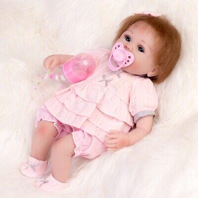 "16"" Lifelike Girl Doll Reborn Baby Dolls Handmade Soft Vinyl Silicone Newborn UK"