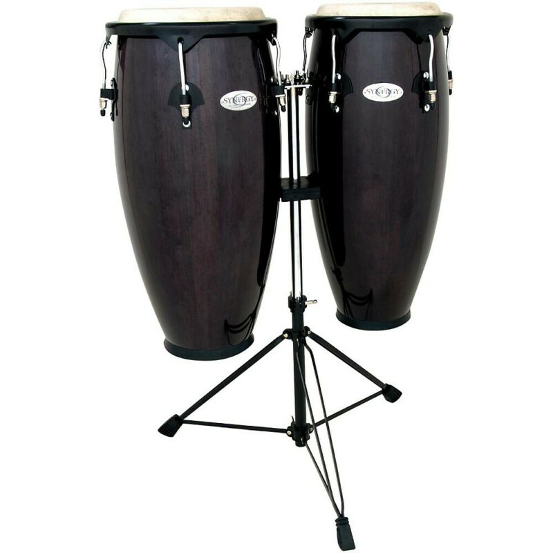 Toca Synergy Conga Set with Stand Transparent Black
