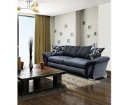 shannon sofa in 3/2 seater black colour