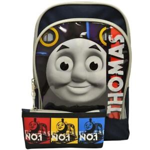 Thomas & Friends 12 inch Toddler Pre-School Kid Backpack With Pencil Case Bag Rucksack
