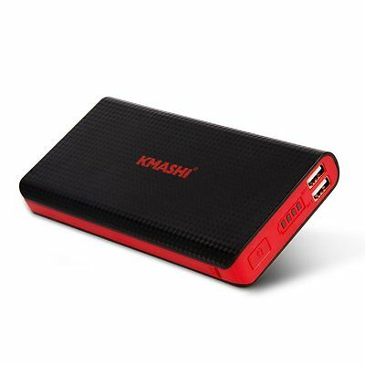 KMASHI 15000mAh Dual USB External Power Bank Portable Charger for Cell Phone US