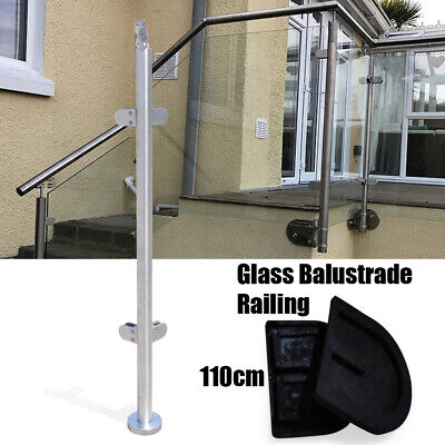 110cm Stainless Steel Cornor Post Balustrade Railing Post Glass Clamps Fencing