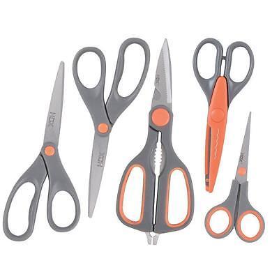 5 Piece Utility Set - HDX (5) Piece Scissor Combo Set Crafts Utility Household Sewing