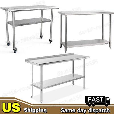 Stainless Steel Work Prep Table Station Commercial Kitchen Restaurant 60 48