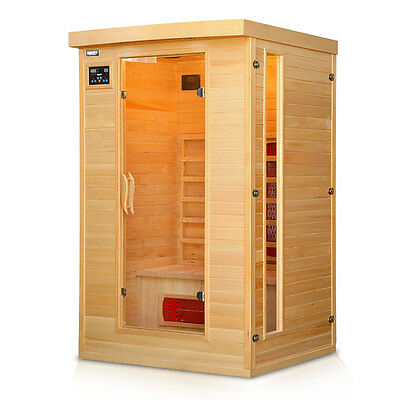 Hecht Infrarotsauna Infrarotkabine Sauna Infrarot Massivholz Wärmekabine Neu