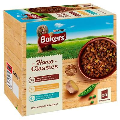 Bakers Pouch Home Classics 20pk - Beef Chicken & Duck In Gravy Pouches Dog Food