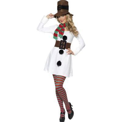 Smi - Damen Kostüm Schneefrau Schneemann Karneval - Schneemann Kostüm Damen