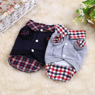 (Cute Striped Cat Puppy Clothing Clothes Dog Sweater Cool Jacket Coat Costume)