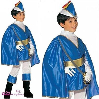 Children's Blue Prince Child 128cm Costume For Medieval Middle Ages Fancy - Prince Costume For Kid