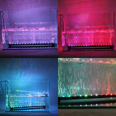 Remote Control 16 LED Aquarium Fish Tank Air Bubble Light  Changing Colors