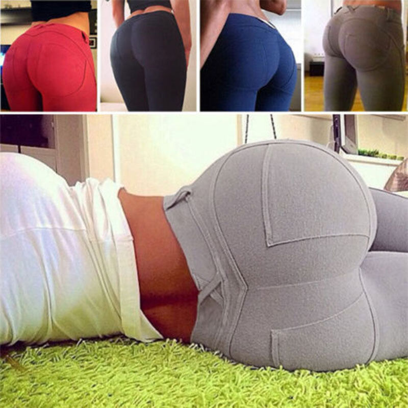 Clearance Women Yoga Stretch Tight Fitness Gym Sports Pants Full Length Trouser