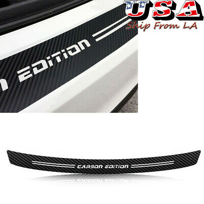 Car Accessories 4D Carbon Fiber Film Trunk Guard Plate Sticker Moulding Trim