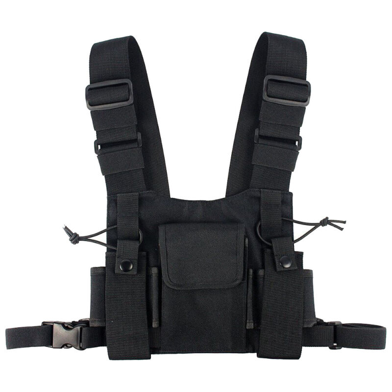 Two-Way Pro Radio Chest Harness Chest Vest for Motorola Baofeng Walkie Talkie