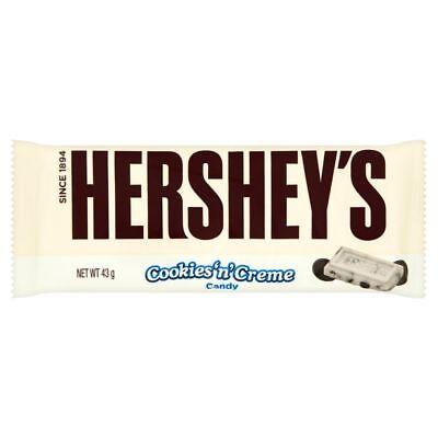 Hershey's White Chocolate Bar Cookies and Cream 43g x 36 Bars US American Candy  ()