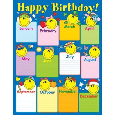 Smiley Face Charts - Smiley Face Birthday Chart Carson Dellosa CD-6290