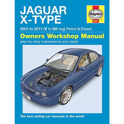 Jaguar XType 2.0 2.5 3.0 Petrol 2.0 2.2 Diesel 2001-10 Haynes Manual