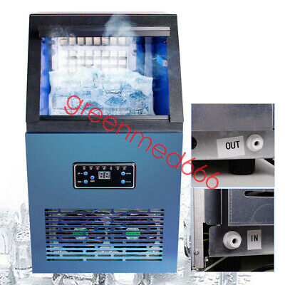 Usa Portable Ice Maker Commercial Built-in Auto Ice Cube Stainless Steel Machine
