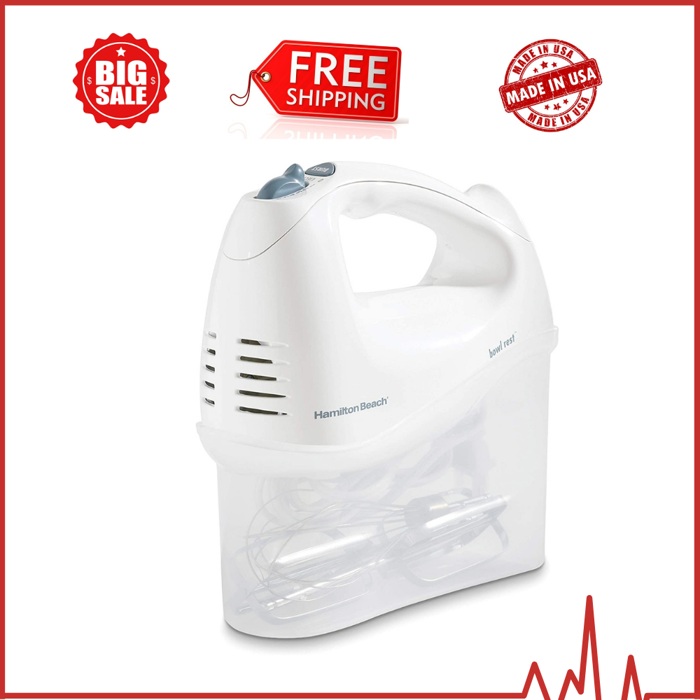 Hamilton Beach 6-Speed Electric Hand Mixer with Snap-On Stor