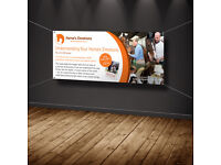 CHEAP PVC Banner PRINT! 4x8ft Waterproof Banner: £65! Call Printflex and ask for other sizes!