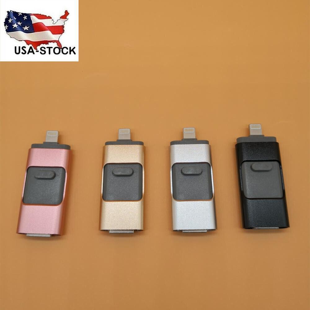 Portable 64/128/256/512GB IOS OTG USB Flash Drives Memory Fo