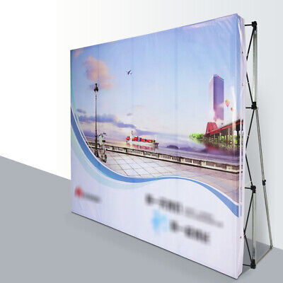 8ft Pop Up Stand Trade Show Display Backdrop Fold Wall Frame Booth Saving Space