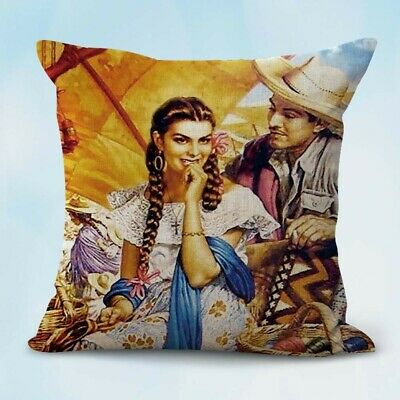US Seller-cheap throw pillow case Jesus Helguera Mexico Spanish art cushion (Cheap Pillow)