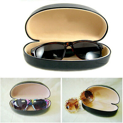 New Black Durable Hard Clam Shell Glasses Case Portable Box Sunglasses Protector