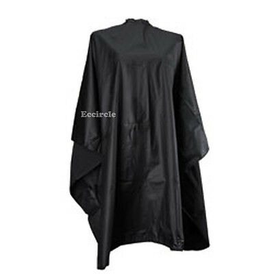 1 Size Fit All Black Barber Hair Cutting Cape Style Shampoo  Spa Salon Equipment