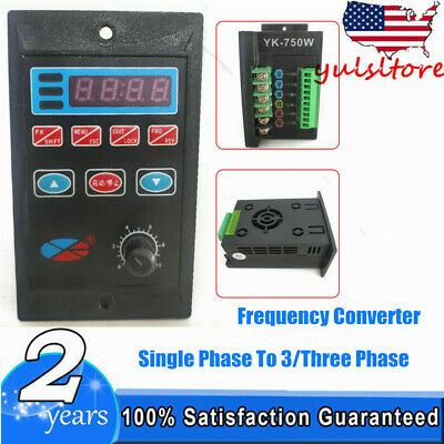 750w Single Phase To Three Phase Variable Frequency Drive Inverter Converter 1hp