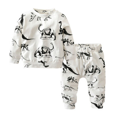 Baby Boy's Clothing Set with Dinosaurs Print