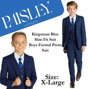 NEW Paisley of London, Kingsman Blue Slim Fit Suit, Boys Formal Prom Suit, Condtion: New, Size: 10, Blue