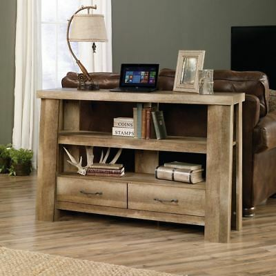 Behind Sofa Tabulation Couch Console With Storage Shelves Rustic Furniture Wood Cabin