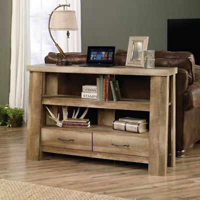 Behind Sofa Table Couch Console With Storage Shelves Rustic Furniture Wood Cabin ()