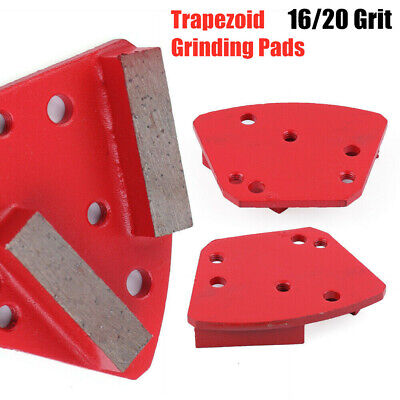 1620 Diamond Grit - 3 Pack Medium Bond Concrete Grinding Tool Trapezoid Grinder