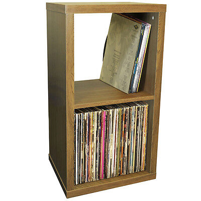 CUBE - 2 Cubby Square Display Shelves / Vinyl LP Storage - Oak 4112OC for sale  Shipping to Ireland