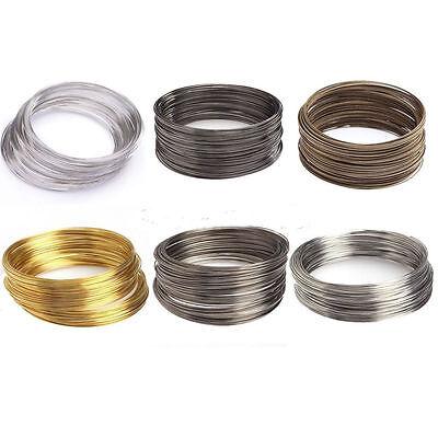 Wholesale 500 Loops Silver/Gold Memory Steel Wire Cuff Bangle For Bracelet - Diy Wire Bracelet