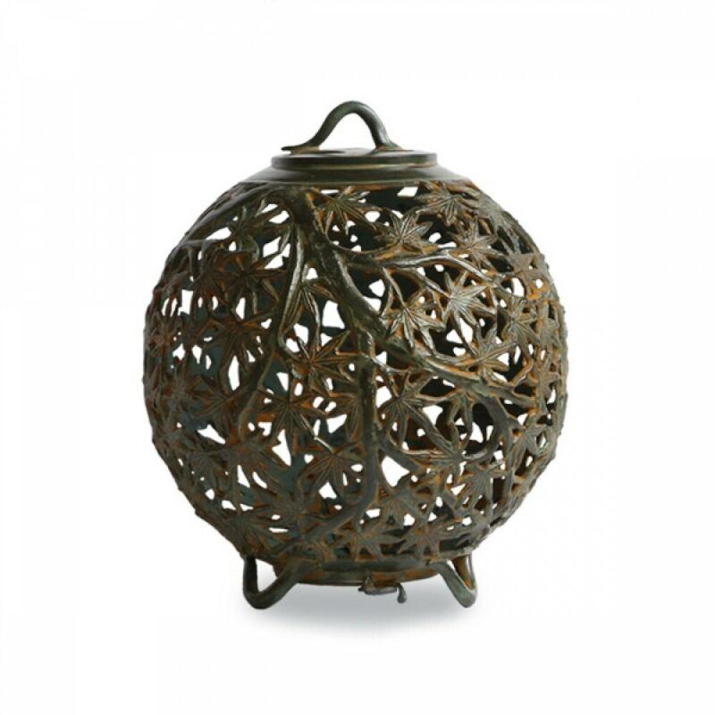 Toro Japanese Bronze Hanging Lantern Takaoka Craft Autumn Leaves 59-09 Japan