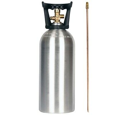 10 Lb Co2 New Aluminum Cylinder With Siphon Tube Cga320 Valve Handle Homebrew
